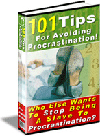 Ebook cover: 101 Tips For Avoiding Procrastination!
