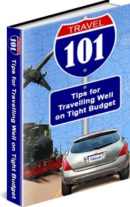 Ebook cover: 101 Tips For Traveling On A Budget!