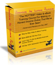 Ebook cover: Average Joe Income Package