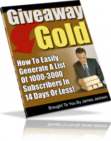 Ebook cover: Give Away Gold