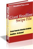 Ebook cover: Giant Headline Swipe File
