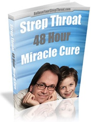 Ebook cover: The Strep Throat 48 Hour Miracle Cure Report
