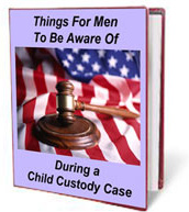Ebook cover: Things that men should be aware of when during a child custody court case