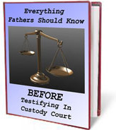 Ebook cover: Everything Men Should Know Before Testifying in Custody Court