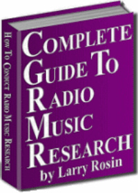 Ebook cover: THE COMPLETE GUIDE TO RADIO MUSIC RESEARCH