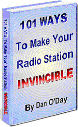 Ebook cover: 101 WAYS TO MAKE YOUR RADIO STATION INVINCIBLE