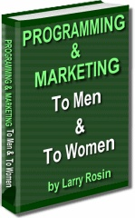Ebook cover: PROGRAMMING & MARKETING TO MEN & TO WOMEN