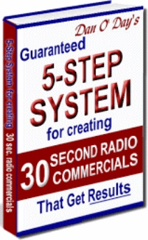Ebook cover: 5-Step System For Creating 30-Second Radio Commercials