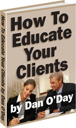 Ebook cover: HOW TO EDUCATE YOUR CLIENTS