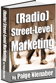 Ebook cover: (RADIO) STREET-LEVEL MARKETING