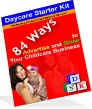 Ebook cover: 84 Ways to Advertise and Grow Your Childcare Business