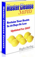 Ebook cover: Master Cleanse Secrets