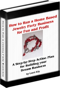 Ebook cover: How to Run a Home Based Jewelry Party Business for Fun and Profit