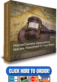 Ebook cover: HomeOwners Association Problems solved in Five Easy Steps