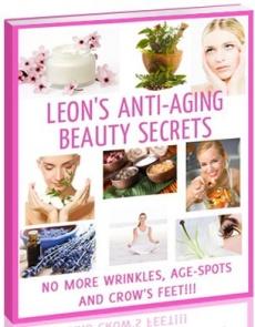 Ebook cover: Leon's Anti-aging Beauty Secrets