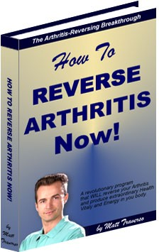 Ebook cover: How To Reverse Arthritis Now!