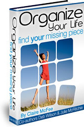 Ebook cover: Organize Your Life - Find Your Missing Piece