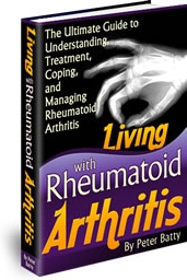 Ebook cover: Living with Rheumatoid Arthritis