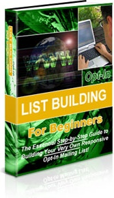 Ebook cover: Opt-in List Building for Beginners