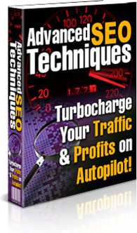 Ebook cover: Advanced SEO Techniques: Turbocharge Your Traffic & Profits on Autopilot!