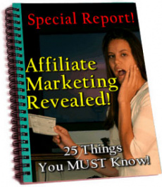 Ebook cover: Affiliate Marketing Revealed
