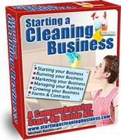 Ebook cover: Starting a Cleaning Business
