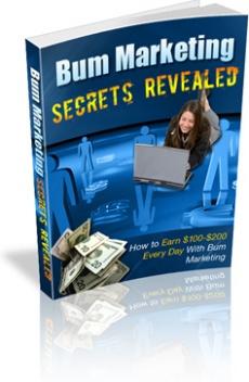 Ebook cover: Bum Marketing Secrets Revealed