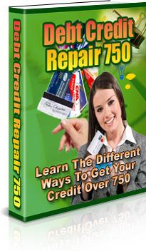 Ebook cover: Debt Credit Repair 750
