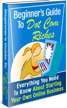 Ebook cover: Beginner's Guide To Dot Com Riches