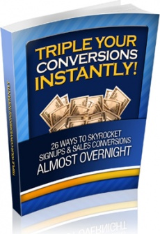 Ebook cover: Triple Your Conversions Instantly