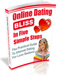 Ebook cover: Online Dating Bliss in 5 Simple Steps!