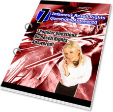 Ebook cover: 7 Infamous Resell Rights Questions Answered