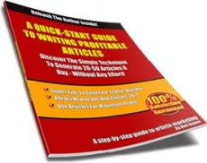 Ebook cover: A Quick-Start Guide To Writing Profitable Articles