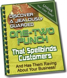 Ebook cover: The One-Two Punch That Will Have Your Customers Raving!