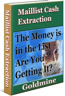Ebook cover: Maillist Cash Extraction Goldmine
