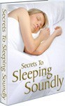 Ebook cover: 'The Secrets to Sleeping Soundly
