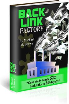 Ebook cover: Backlink Factory