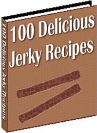 Ebook cover: 100 Delicious Jerky Recipes