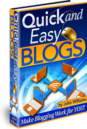 Ebook cover: Quick and Easy Blogs