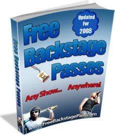 Ebook cover: Free Backstage Passes... Any Show... Anywhere!