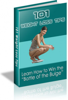 Ebook cover: 101 REAL WAYS TO LOSE WEIGHT