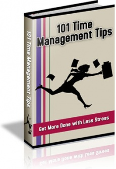 Ebook cover: 101 TimeManagement Tips
