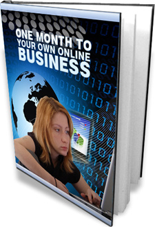 Ebook cover: One Month to Your Own Online Business