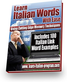 Ebook cover: Italian Link Words Book