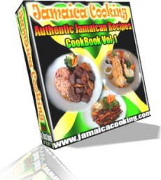 Ebook cover: Jamaica Cooking Authentic Jamaican Recipes CookBook Vol-1