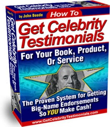 Ebook cover: Get Celebrity Testimonials For Your Book,Product Or Service