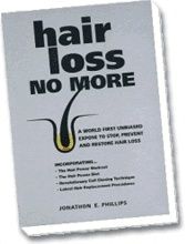 Ebook cover: HAIR LOSS NO MORE