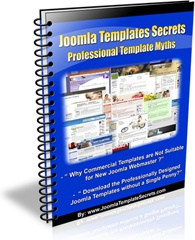 Ebook cover: Joomla Template Secrets:Professional Templates Myths