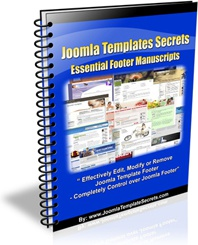 Ebook cover: Joomla Template Secrets:Essential Footer Manuscripts