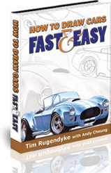 Ebook cover: How To Draw Cars Fast and Easy